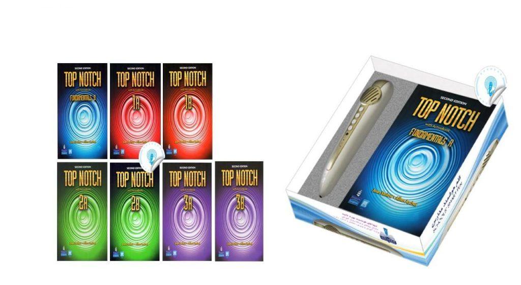 قلم هوشمند آموزش زبان آوای هوشمند قلم همراه با برچسب های مخصوص کتب Top Notch